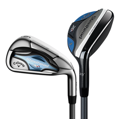 Women's Steelhead XR Irons/Hybrids Combo Set