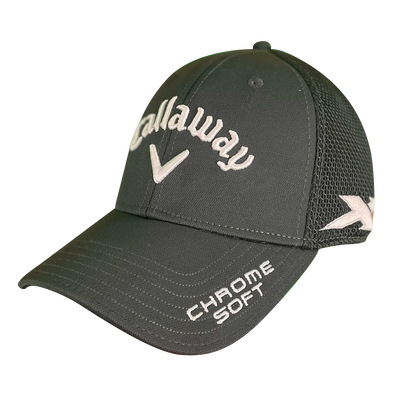 Custom Tour Logo Mesh Fitted Cap