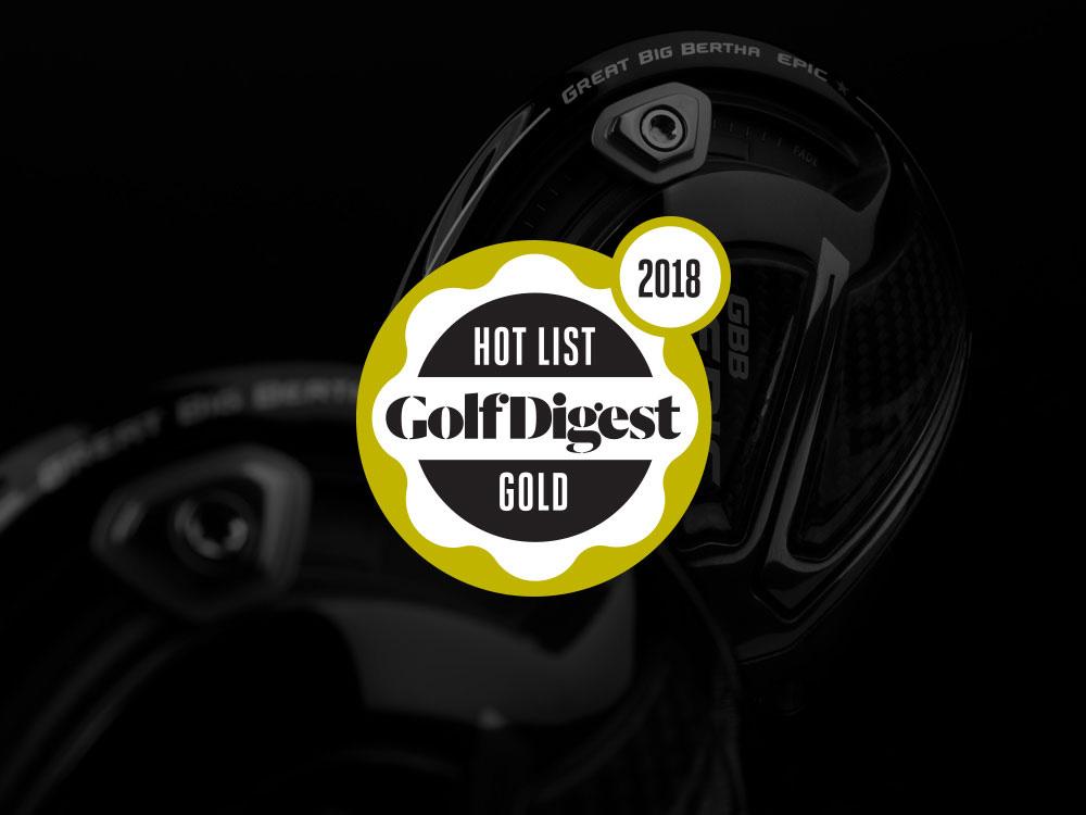 Callaway GBB Epic Star Driver Golf Digest 2018 Hot List Badge
