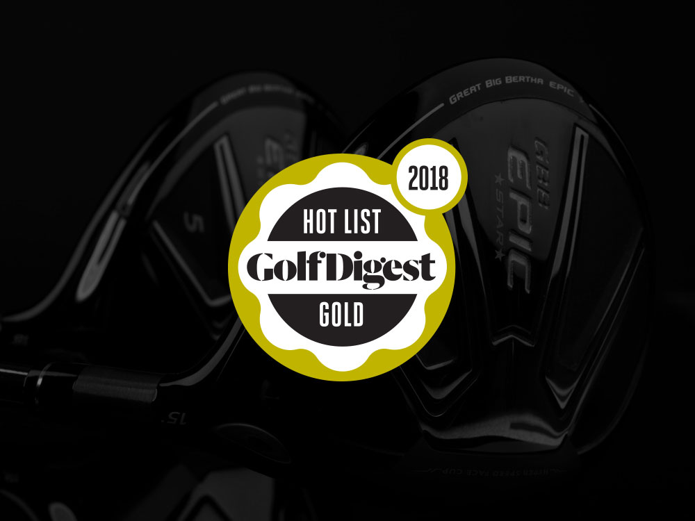 Callaway GBB Epic Star Fairway Wood 2018 Golf Digest Hot List Badge