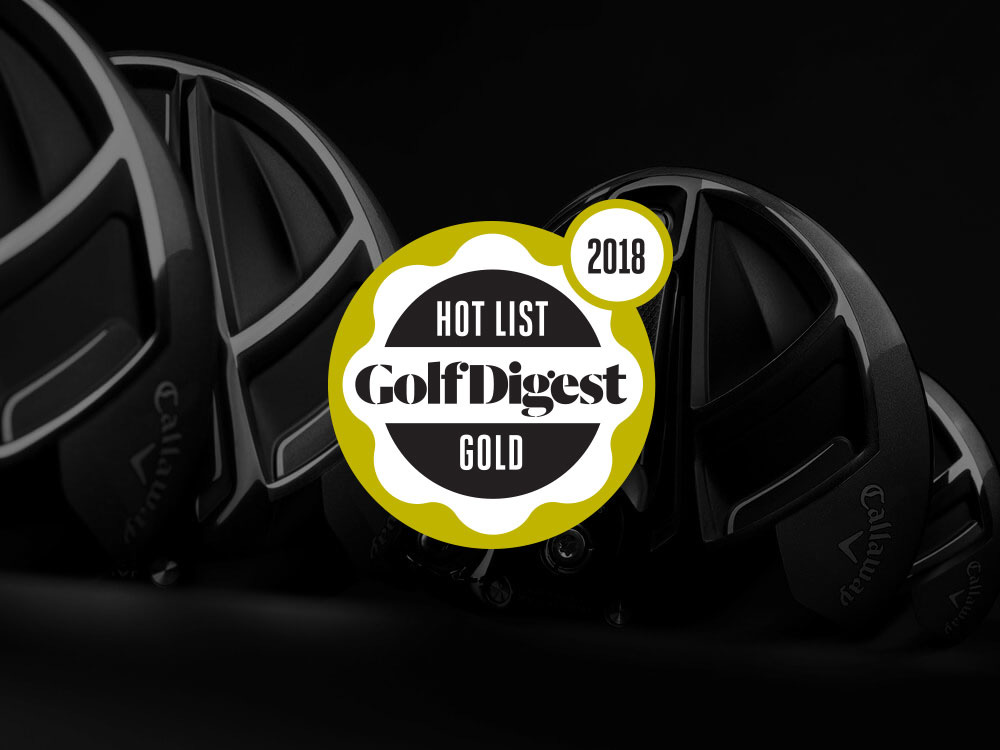 Callaway Rogue Sub Zero Driver 2018 Golf Digest Hot List Badge
