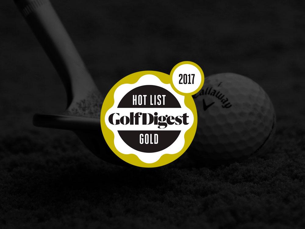 Callaway MD3 Milled Chrome Wedges 2017 Golf Digest Hot List Badge