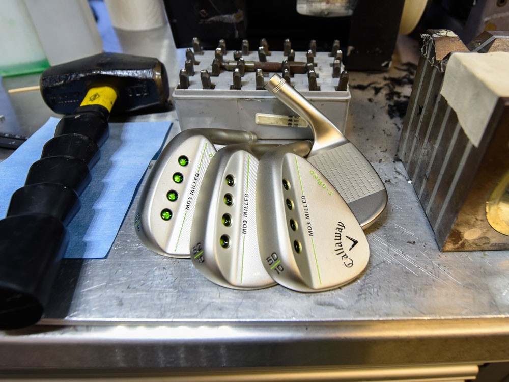 Callaway MD3 Milled Gold Nickel Wedges