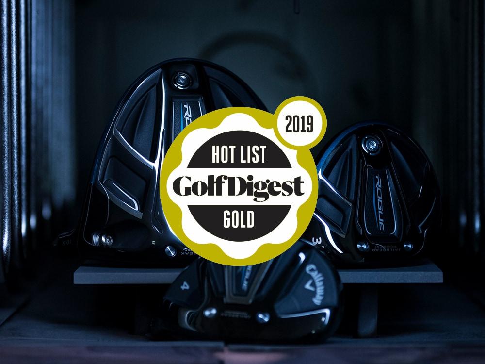 Callaway Rogue X Hybrid 2018 Golf Digest Hot List Badge