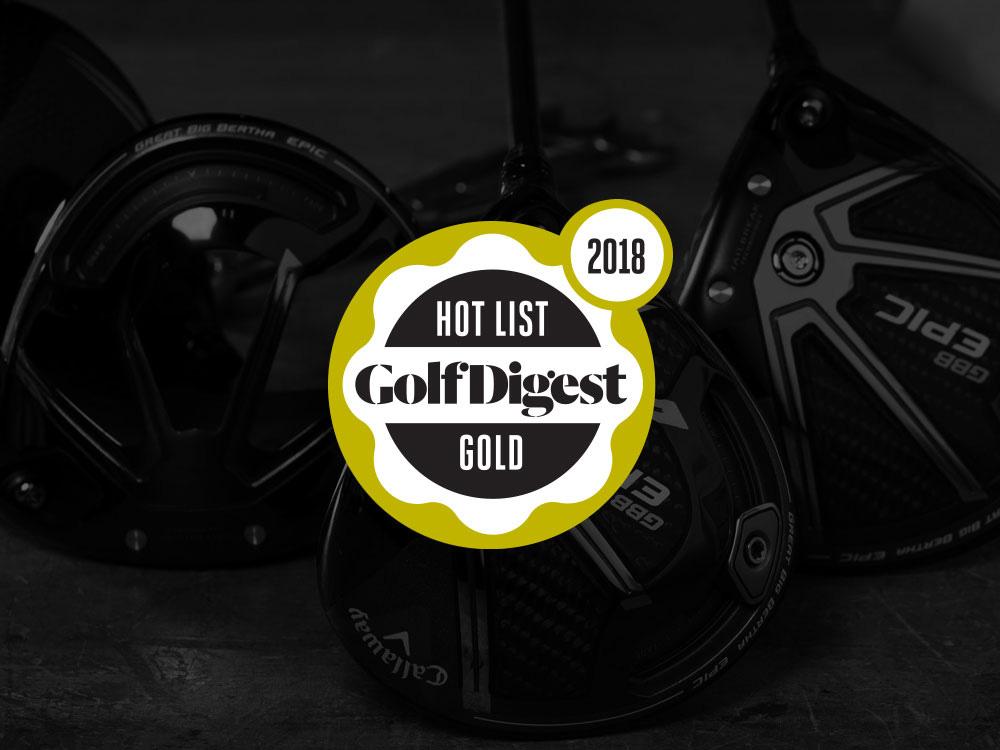 Callaway GBB Epic Driver 2018 Golf Digest Hot List Badge