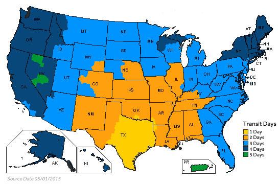UPS Map